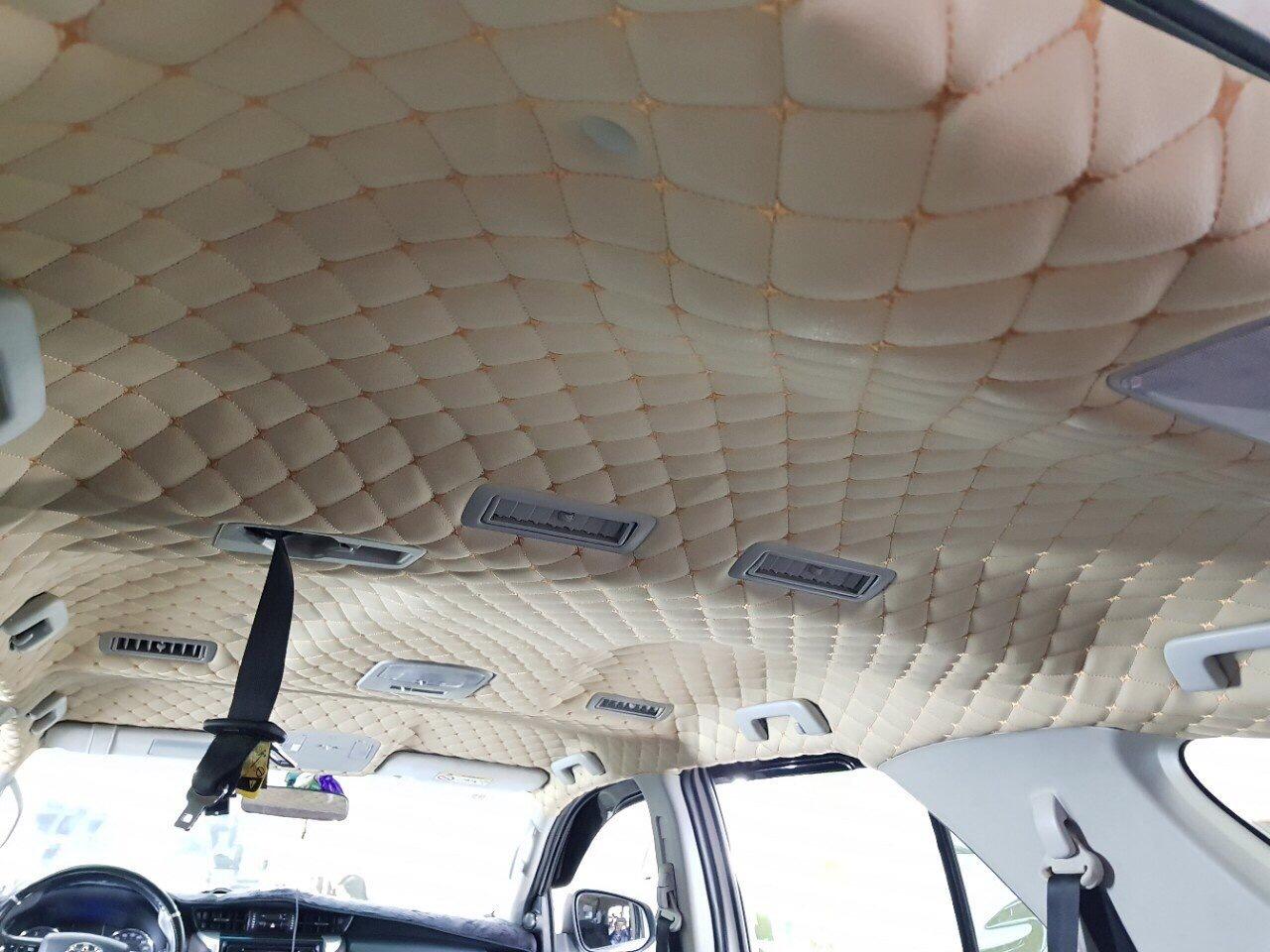 Bọc trần da 5D cho Toyota Innova 2018